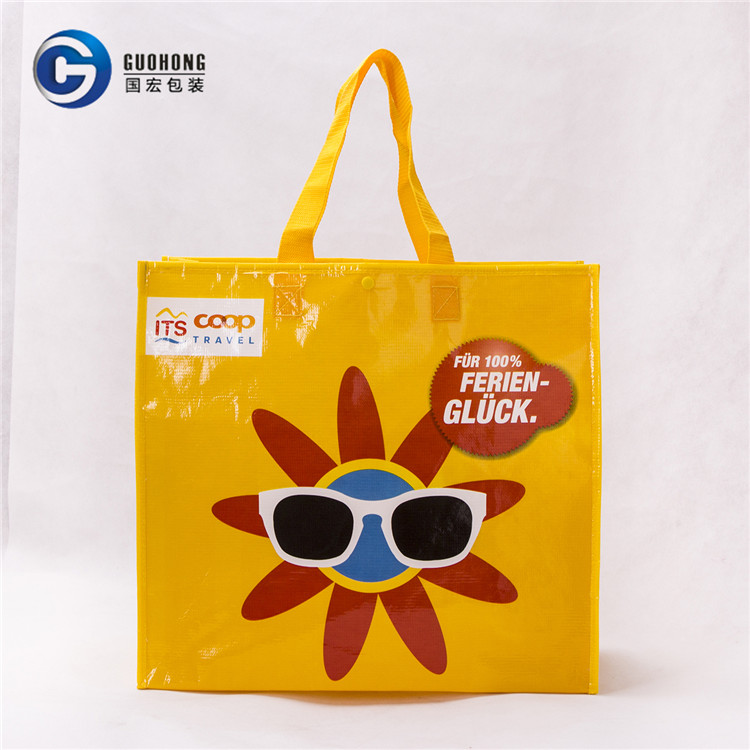 Reusable Pp Recyclable Eco Advertising woven Laminated Woven Bag For Shopping