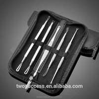 Blackhead Whitehead Pimple Acne Blemish Comedone Extractor Remover Tool Kit 5 Pcs