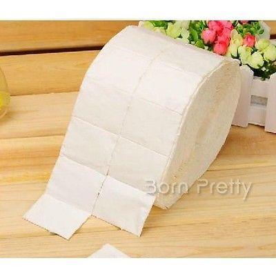 White 500Pcs Reel 5cm 4cm Nail Polish Remover Paper Soft Cotton Wraps 20639