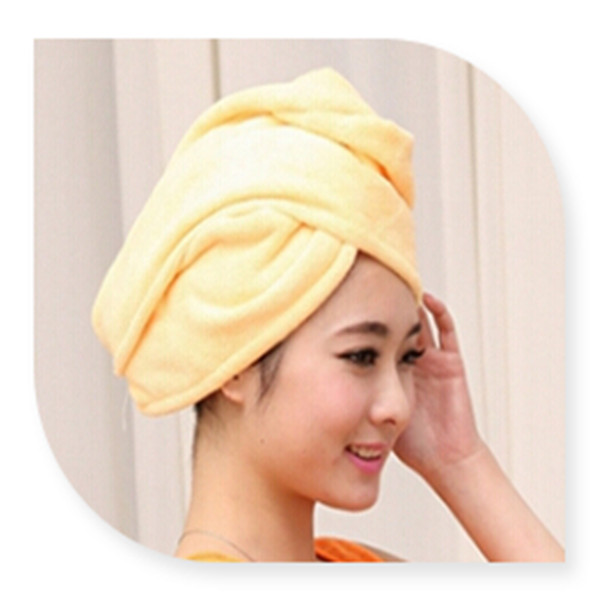 Orange and white Cheap wholesale Salon use Super soft Colored 100% Microfiber hair wrap towel/ Terry cloth hair towel