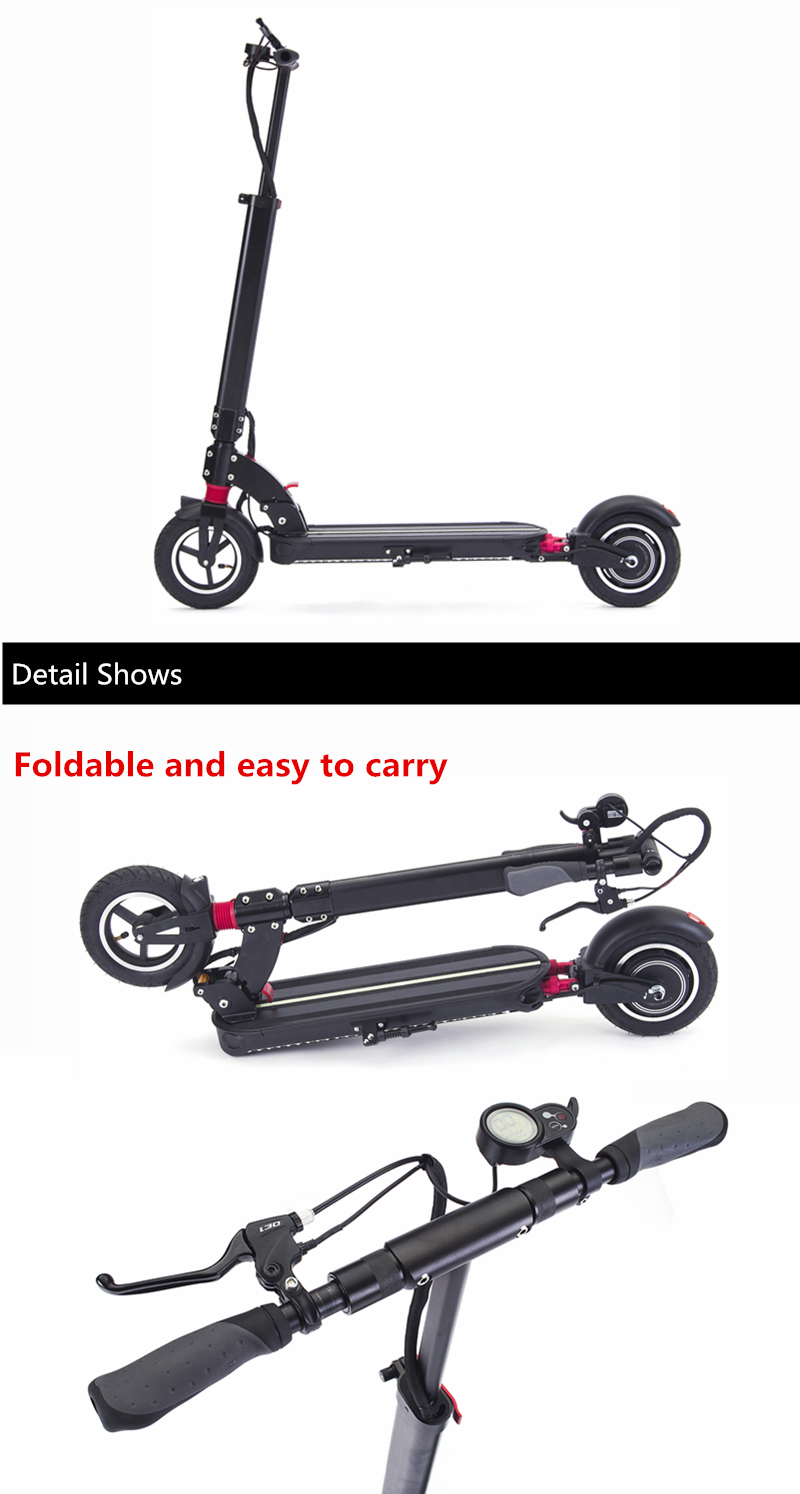 Unicool 2020 NEW Electric Scooter 48V 500W With Double Suspension Foldable Electric Scooter