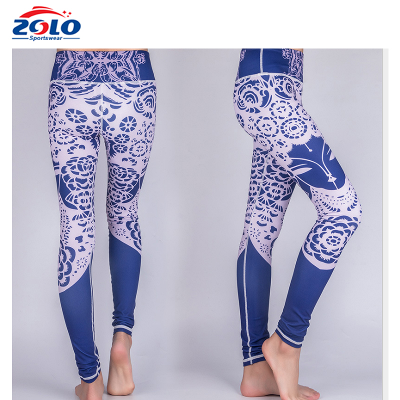 92% Polyester 8% Nylon Spandex Yoga Pants Leggings