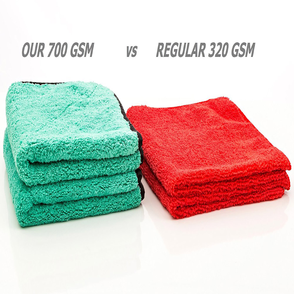 720gsm ultra thick plush microfiber car cleaning towels buffing cloths super absorbent drying auto datailing towel