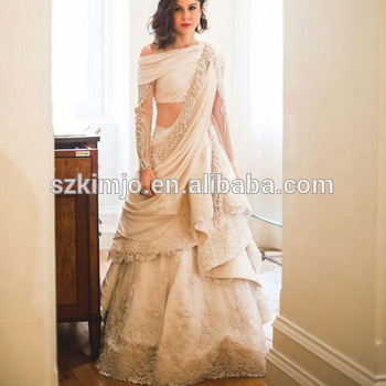 Indian Wedding Dress Design A Line Two Pieces Bridal Dresses Wedding ...