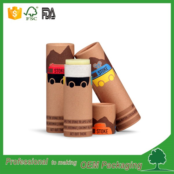 biodegradable Eco friendly customized deodorant tubes wholesale manufacturer sunscreen stick paper tube coated wax paper inside