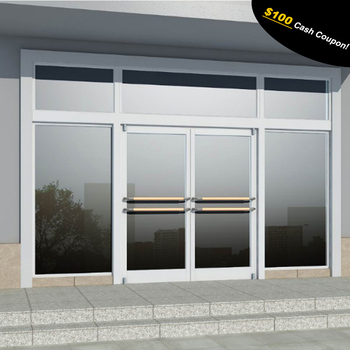 Hot Sale Aluminum Frame Glass Door For Commercial Store