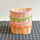 Hand woven small decorate oval colorful bamboo cane gift basket