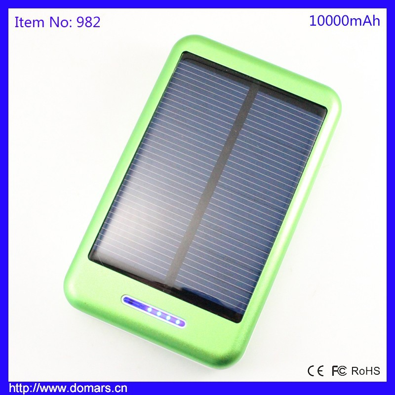 Hot Sale 10000mah <strong>Solar</strong> Powered External Battery Backup Charger <strong>Solar</strong> Power Bank