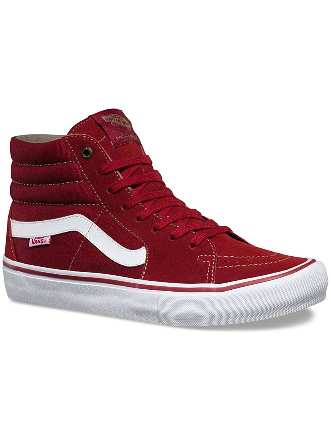 922841227e Get Quotations · Vans Sk8-Hi Pro (Red Dahlia White) Men s Skate Shoes