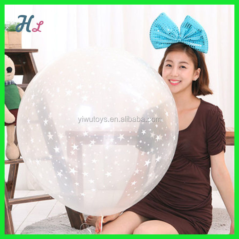 36 inch giant transparent balloon in stock