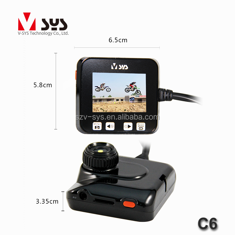 factory supply 2 inch 140 degree dual lens 720P HD motorcycle dvr camera with GPS & G-sensor & infrared nigth vision