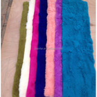 Colorful Factory Direct supply 100% Genuine Splicing Rex rabbit fur plate for garments