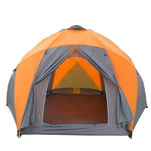 10 People 3 door Double layer fancy Camping tent