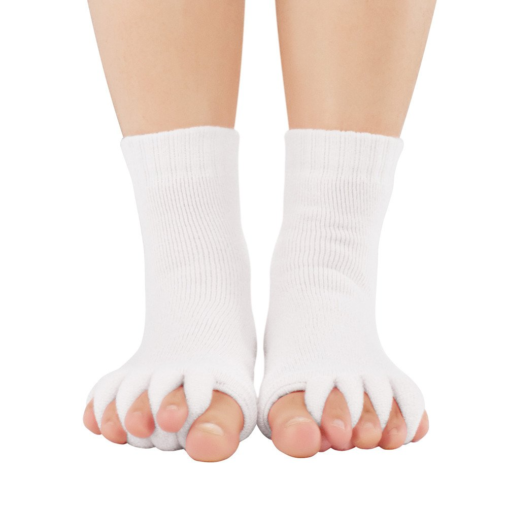 259e225568a Buy JASSINS One Pair of Massage Toeless Toe Separator Open Toe Socks ...