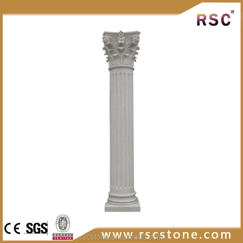 White marble column pedestal stone for wholesale
