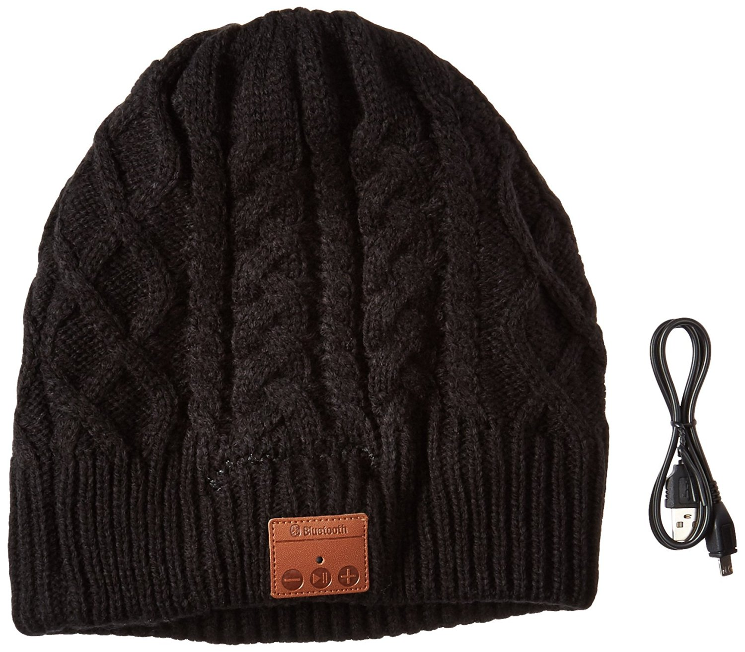 LAYEN Bluetooth Winter Beanie Cable Knit Hat for Men and Women with Stereo  Speaker Headphones bc4ede7de87