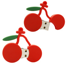 Singapore Corporate Gift Wholesale Creative Red Cherry USB Flash Drive