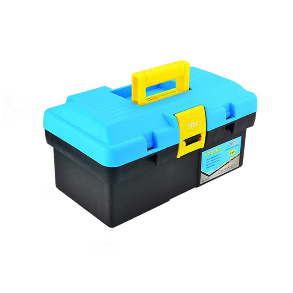 "Plastic Toolbox | Portable Toolbox Storage 15"" 18"" 20"" 22"" - Multi-Function Home Hardware Repair Tool Box,1PCS (Size : 371917.5cm)"