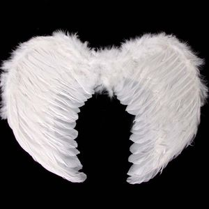 Feather White Dark Angel Fairy Wings Halloween Fancy Dress Gothic Wing SD754