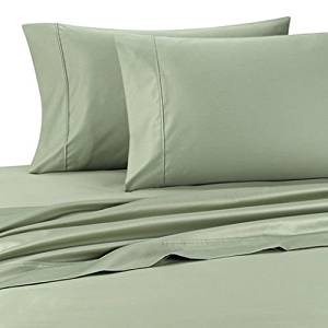 Deluxe' Solid Bed Sheet Set 100 Percent Egyptian Cotton Fine Single Yarns 1200 Thread Count Features Indulgently Soft Surface with a Lovely Sheen!! Set includes Fitted, Flat and Pair of Pillow Cases. Deep Pocket Fitted Sheet up to 18 Inches (Queen, Sage)