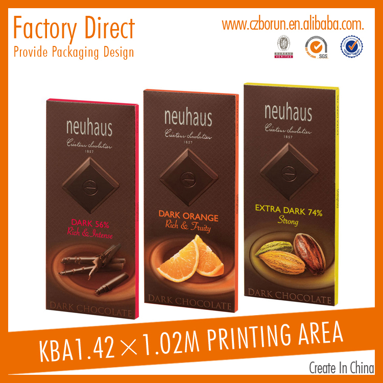 Custom Portable Folding Printed Chocolate Packing Carton Box