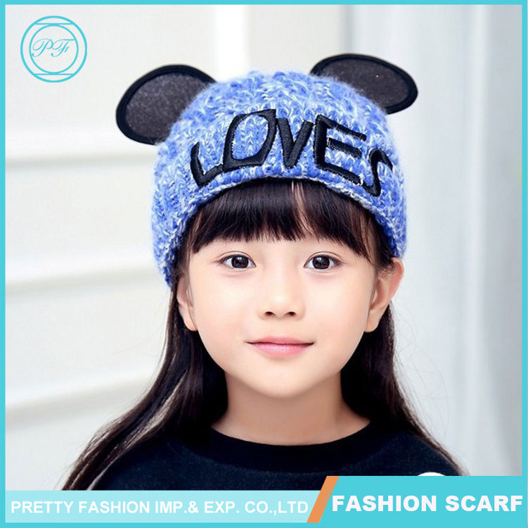 New Winter Hat Embroidery Thread Big Ears Cap Hat