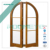 ROOMEYE modern arched french doors used exterior french doors for sale