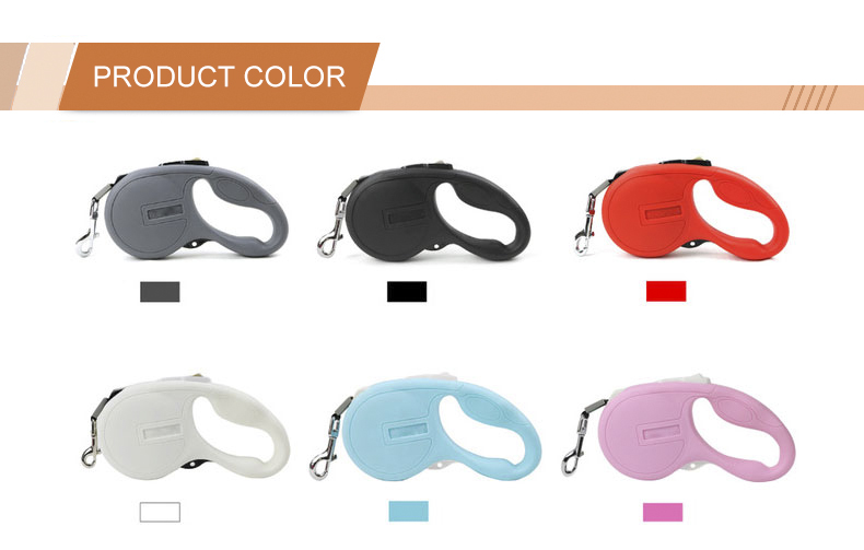 Custom Private Label Fashion Automatic Retractable Dog Leash Nylon