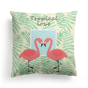 Wholesale Amazon hot selling Living room decorative cushions, digital printing flamingo cushion cover
