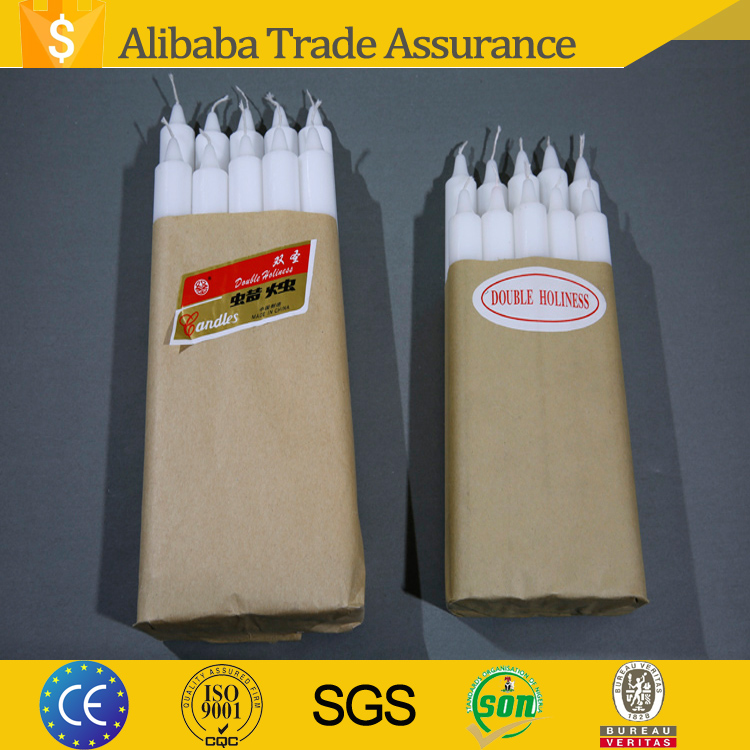 wholesale candle making paraffin palm wax white stick candle in China
