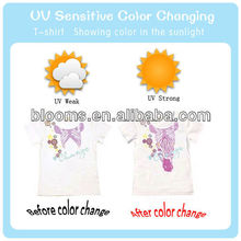 Summer fashion sunlight activity color changing t-shirt
