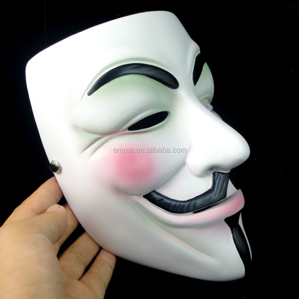 V f/ür Vendetta Anonymous Guy Fawkes der Maske Halloween Cosplay Masken