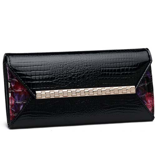 P46 famous brand purse fake crocodile wallet european and american notecase purse korean style women wallets