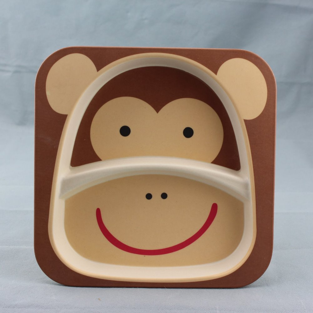 monkey handmade pottery dinnerware set animal shape canister set baby bamboo fibre dinnerware sets used home dinnerware