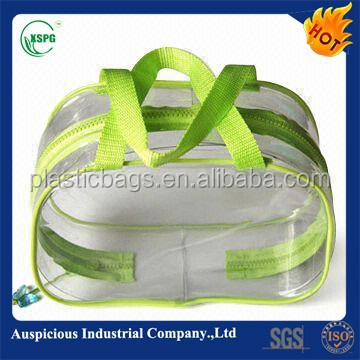 clear pvc bag pouch for swimwear with zipper