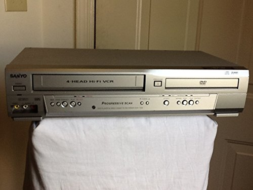 Sanyo DVW-7200 DVD/VCR Video Cassette Recorder Combo, 4-Head Hi-Fi VCR Stereo Video Cassette Recorder VHS Player w/ Dolby Digital, Progressive Scan, Compact Disc Digital Audio