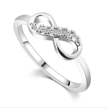 HANRU 2017 New Colors Sterling Silver Ring Love Heart Romantic Finger Rings For Women Wedding Jewelry