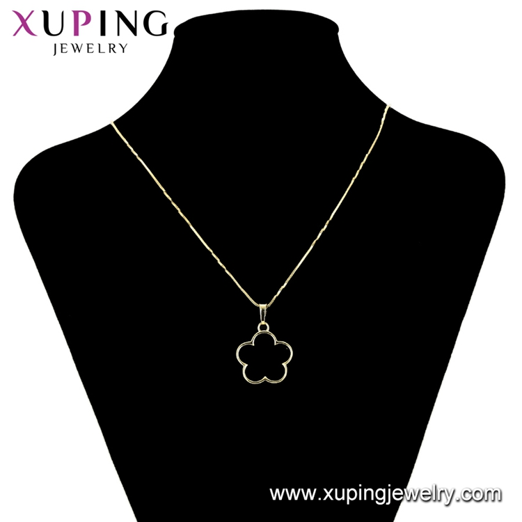 34446 xuping metal flower charm, copper alloy simple pendant