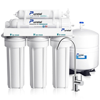 7 stage reverse osmosis water filter system with 50gpd ro system water filter