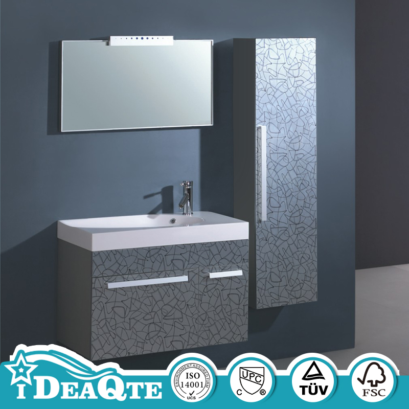 MDF 36 In Wooden Bathroom Sink Cabinets with Vanity Unit Top