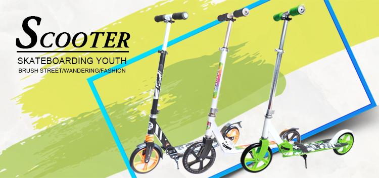 200mm pu big wheel kick roller für erwachsene, günstige roller zu verkaufen