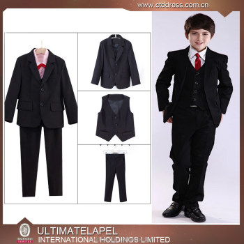 Newest Classical Design Fashion Elegant Coffee Boys Suits Boys