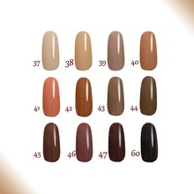 Free shipping Toffee series 12pcs FeiFan soak off UV Gel Nail Polish 15ml 12 pure colors