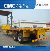CIMC Tandem Axle Flatbed Trailer For Sale