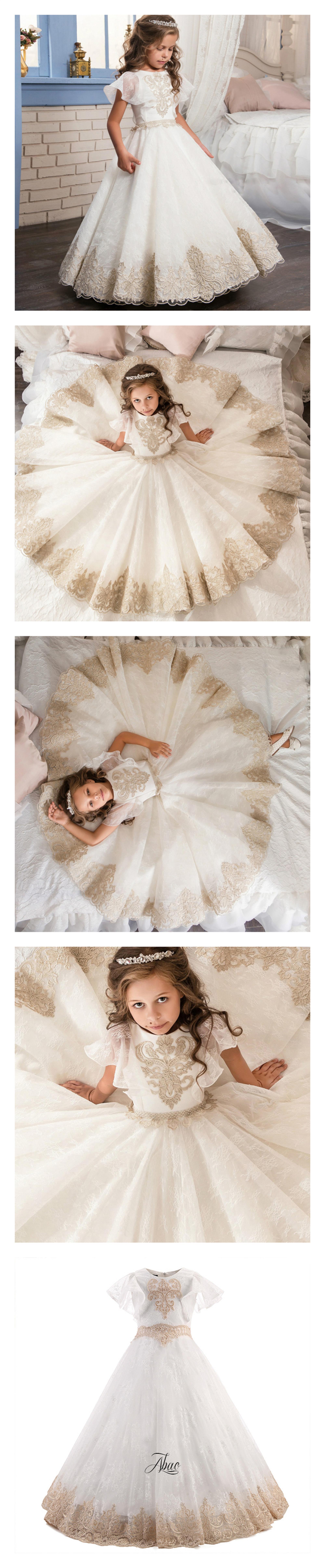 315a6d3e68c Boutique Wholesale Kids Girl Dress Wedding Prom Little Girls Ball Gowns  Flower Lace Bridesmaid Dresses