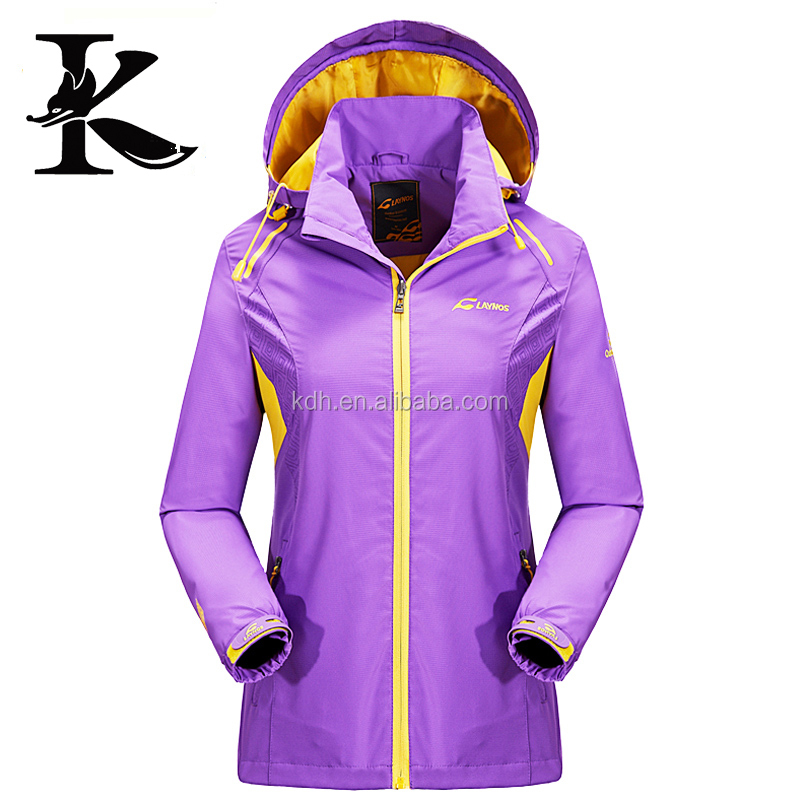 Lightweight Waterproof Polyester Women Pullover Windbreaker Casual Jacket