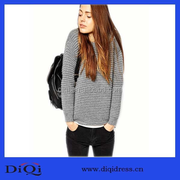 Wool Blended Thick Needle Jumper Ladies Trendy Hoddy New Fashion Women Apparel