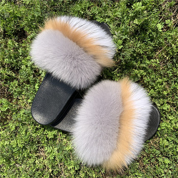 c5687fb0487b00 2019 Ladies Custom Fashion Fur Sandals Shoes Wholesale Luxury Outerwear  Summer Real Fox Fur Slippers Women