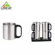 Eco-Friendly stainless steel sublimation travel auto coffee mug set