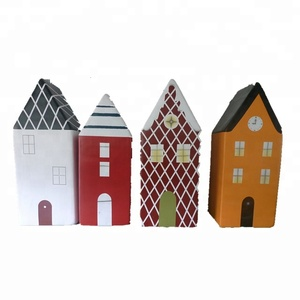 decorative christmas Fibreglass Mini vintage houses for children entertainment